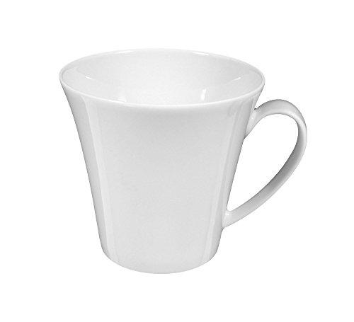 Seltmann Weiden Obere zur Kaffeetasse 0,21 l 6 Stück Top Life Weiss Uni 00003