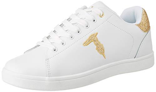 Trussardi Jeans Sneakers Glitter Patch, Scarpe con Lacci Donna, W626, 39 EU