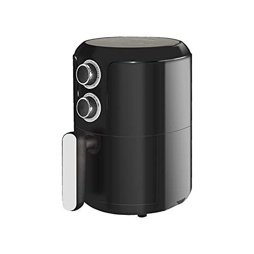 Freidora de Aire 2.8L sin Aceite Control de Temperatura y Temporizador 1200W Caliente 80 a 200 °C (Negro)