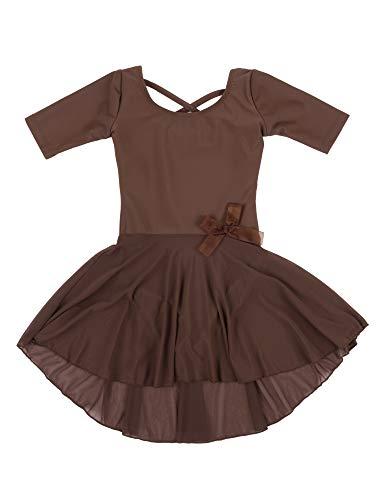Leveret Kids Girls Skirt Leotard Brown Long Sleeve Size Medium (8-10 Years)