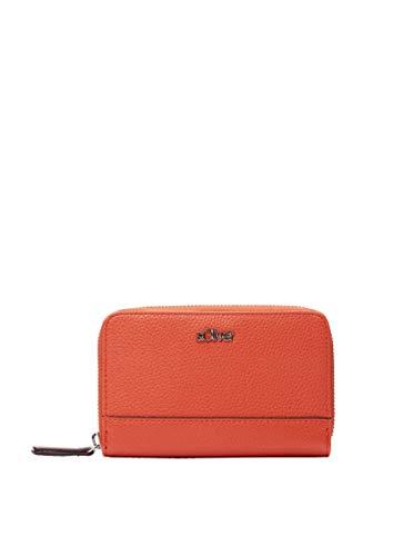 s.Oliver RED LABEL Damen Zip Wallet mit Label orange 1