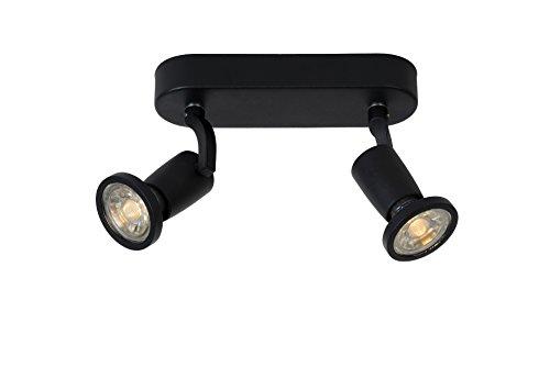 Lucide JASTER-LED - Spot Plafond - LED - GU10 - 2x5W 2700K - Noir