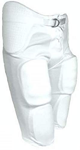 TAG Youth Integrated Football Pant X-Small (White) Waist (20.25-22.25in)