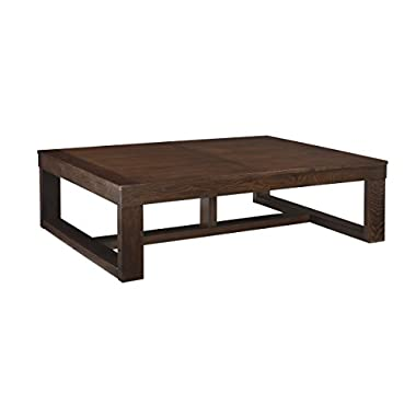 Ashley Furniture Signature Design - Watson Coffee Table - Cocktail Height - Rectangular - Dark Brown