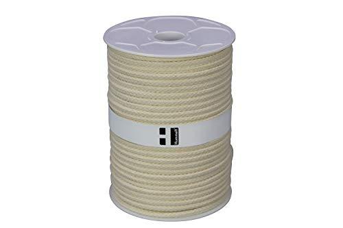 Corde en coton, 10mm, 50m, Naturel (beige), sur rouleau de Hummelt®
