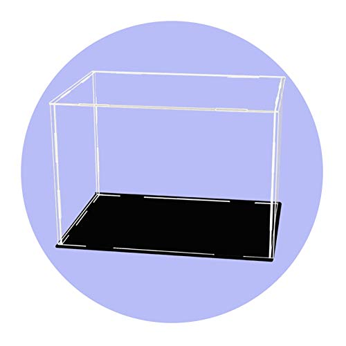 LM-Coat rack XINGLL Acrílico Vitrina Transparente, Caja Apilable Prueba Polvo, para Coleccionables, Juguetes, Figuras Béisbol, Modelo Construcción Coche, Cubo Protección Almacenamiento