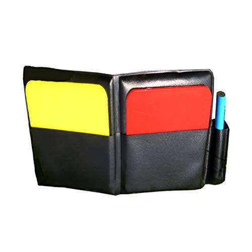 LIOOBO Arbitro Card Set Arbitro Red Card Giallo Card Aid Kit Football Calcio Judge Flipping Card Set