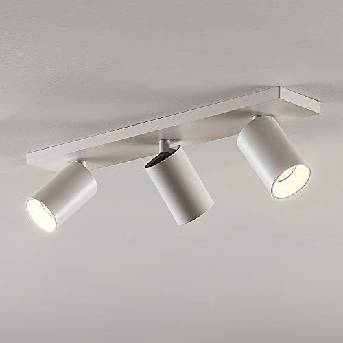 Arcchio Strahler 'Brinja' dimmbar (Modern) in Weiß aus Metall u.a. für Flur & Treppenhaus (3 flammig, GU10, A+) - Deckenlampe, Deckenleuchte, Lampe, Spot, Flurleuchte