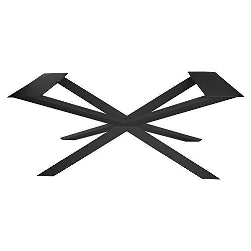 KTC Tec Kruisframe GX80x40 staal mat zwart structuur poedercoating eettafel tafelframe woonkamer tafel keukentafel