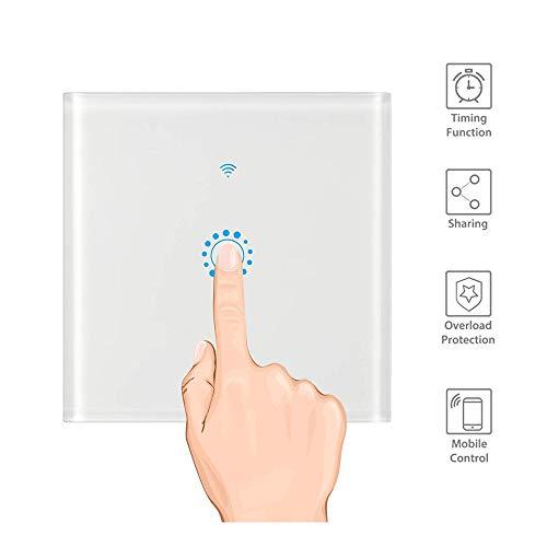 Interruptor táctil inteligente WiFi compatible con Alexa y Google Home, Sensor 3 Gang Interruptores Inalambricos Inteligente para Hogar, Compatible con Android y la Aplicación iOS