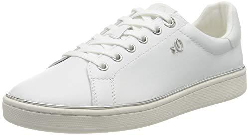 s.Oliver Damen 5-5-23625-24 Sneaker, Weiß (White Nappa 102), 42