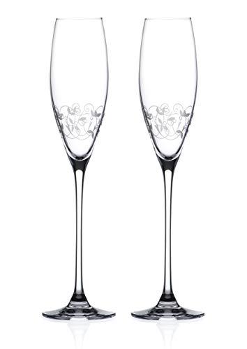 Diamante 5201.412 Arabesque champagne- en prosecco-glazen champagneglas, 200 milliliter