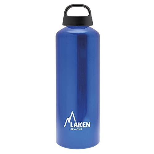 Laken Classic Botella de Agua Cantimplora de Aluminio con Tapón de Rosca y Boca Ancha, 1L Azul