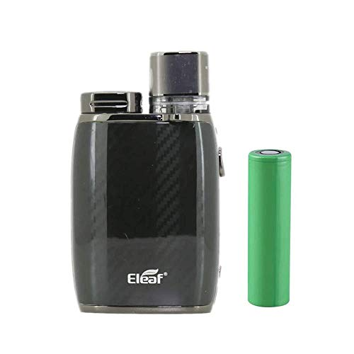 イーリーフ Pico Compaq スターターキット POD型 カートリッジ 電子タバコ Vape Kits【18650 バッテリー付き】 (Carbon Black 3.8ml)