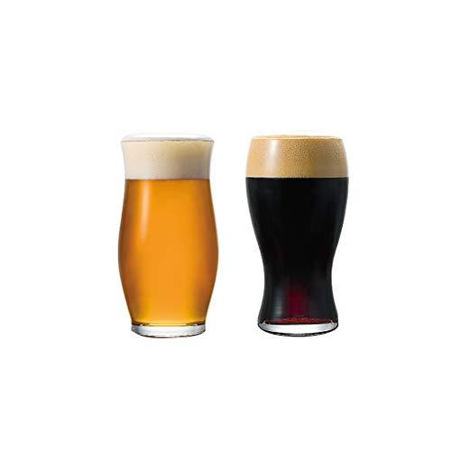 Vaso Taza de Cerveza Vidrios de Cerveza Únicos Bebidas Tazas de Cristal Hecho a Mano para Bebidas Leche de Cerveza Cristalería (Color : C1+C3)