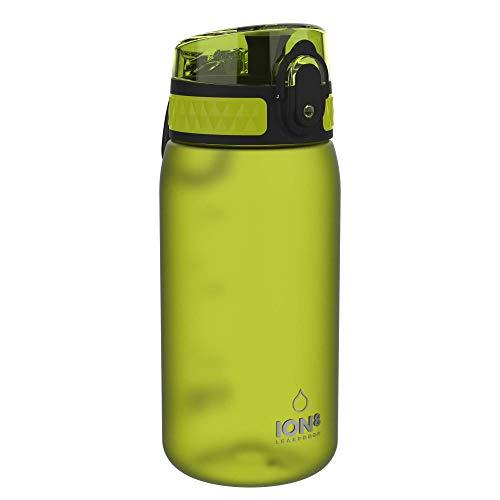 Ion8 Botella Agua Niños Sin Fugas, Sin BPA, Monos, Verde