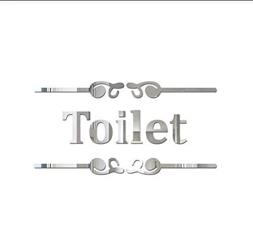 Acryl muurstickers JHLP badkamer en wc deur spiegel tegel muursticker zelfklevende badkamer Decor Sticks wc ingang teken spiegel muur sticker 25,5 x 12 cm