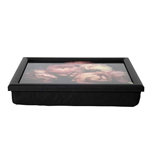 Mars & More - Tablett - Knietablett - Vintage Roses, Rosen - 43 x 33 x 7 cm - mit Kniekissen