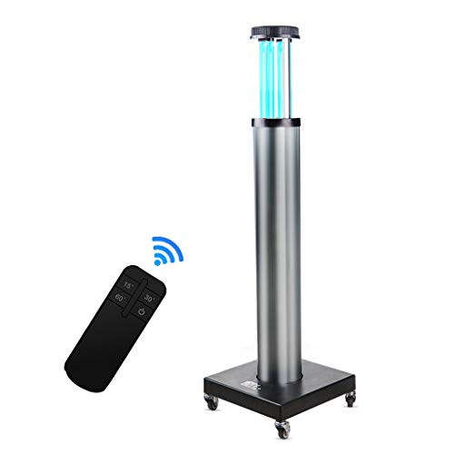 Lxn Lámpara de desinfección Ultravioleta de con ozono, Negro lámpara germicida UV, purificador de Aire de Alta Potencia 80-150W, para Sala de Uso en hospitales, escuelas, fábricas y Otros Grandes