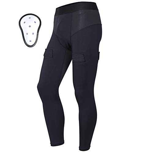 EALER Compression Fit Hockey Pants, with Cup & Sock Tabs Men