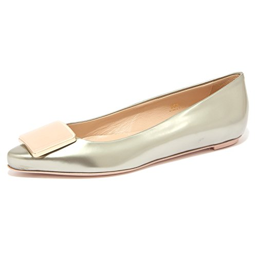Tod's 94178 Ballerina Cuoio SR PLACCA Racing Scarpa Donna Shoe Women [38.5]
