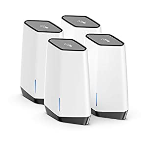 NETGEAR Orbi Pro WiFi 6 Tri-Band Mesh System for Business or Home (SXK80B4) – Router with 3 Satellite Extenders | 4…