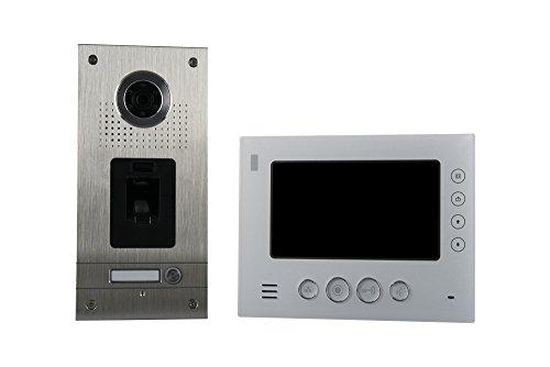 AE CKZ1-812S1-01 1 Fam - Videoportero automático (2 Unidades), diseño de Huellas Dactilares