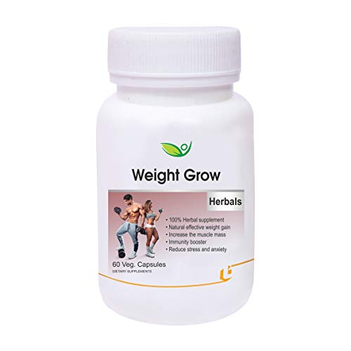 Biotrex Nutraceuticals Weight Grow Herbals - 60 Veg. Capsules, Weight Gain and Muscle Growth for Men and Women with Shatavari, Ashwagandha, Cinnamon, Arjuna & Amalaki