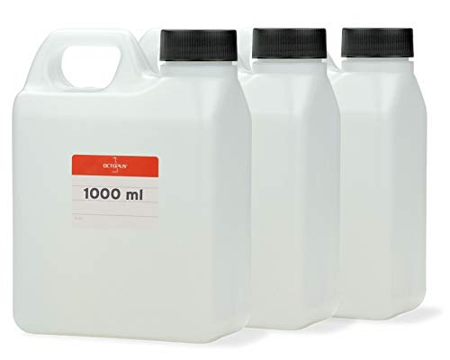 Octopus 3X 1000 ml Kanister, 1 Liter Wasserkanister Camping, Leere Plastikkanister für Lebensmittel, Öle oder Chemikalien, Kunststoffkanister aus HDPE-Kunststoff