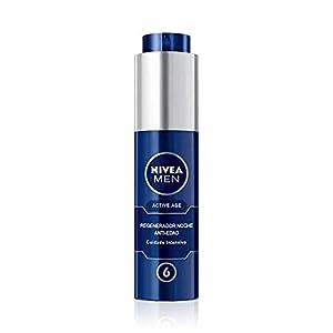 NIVEA MEN Active Age Regenerador Anti-edad Noche (1 x 50 ml), crema de noche para la piel madura del hombre, regenerador facial antiedad con 6 beneficios en 1 aplicación