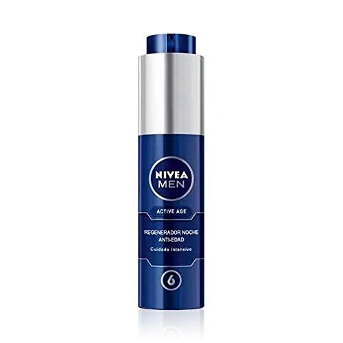 NIVEA MEN Active Age Regenerator Anti-Aging Nacht (1 x 50 ml), Nachtcreme für reife Haut des Mannes, Anti-Aging Gesichts-Regenerator mit 6 Vorteilen in 1 Anwendung