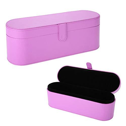 PU Leder Hard Box, Fön Aufbewahrungskoffer Reise Hard Case Tragbare Fön Tasche Geschenkbox für Dyson Supersonic Fön(Lila)