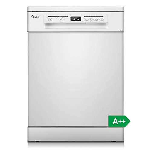 Midea SF 5.60 spülmaschine / Geschirrspüler Freistehend & Unterbau / A++ / geschirrspüler 60 cm / 258 kWh/Jahr / 3080 L/Jahr / Extra Trocknen / Vollwasserschutz / LED Display / weiß