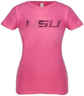 CollegeFanGear Norfolk State Next Level Girls Fuchsia Fashion Fit T Shirt 'NSU Foil'