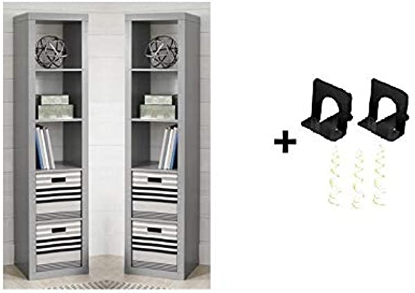 Better Homes And Gardens 5 Cube Organizer 5 Cube Pack Of 2 Gray Free