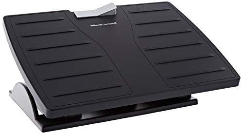 Fellowes 8035001 Fußstütze Office Suites Microban verstellbar mit antibakteriellem Schutz, schwarz