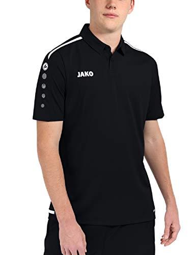 JAKO Polo pour Homme, Taille XL, Noir/Blanc