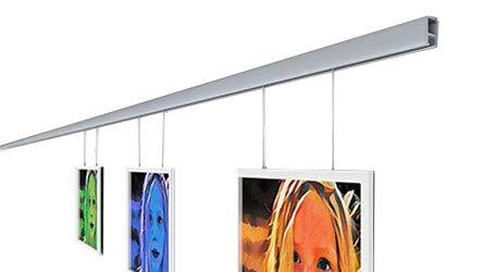 clip-rail plata galería sistema cliprail Kit para colgar cuadros con ganchos montado en la pared, 6 Meter (19.68Feet)