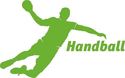 GRAZDesign Wandtattoo Turnhalle Sport - Walltattoo Wohnzimmer Flur Büro Handball - Wandaufkleber Teenager Sportler Handball Spieler / 91x57cm / 660160_57_063