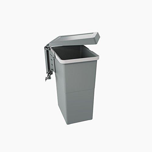 elletipi PBN asg44ligne Swing 2.0Poubelle Automatique de porte en plastique Grande Capacité 24litres, nylon, gris foncé, l.34cm H.47cm p.26cm