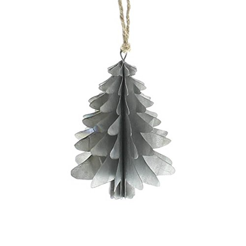 Zinc Christmas Tree Ornament - Sold in Case Pack of 3