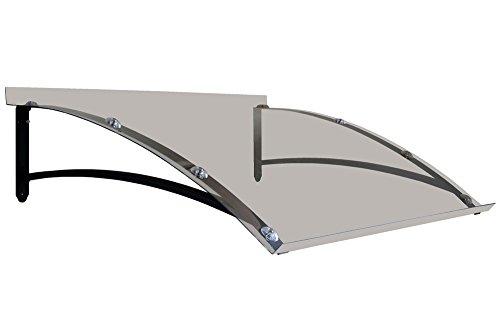 BELLHOUSE COPERTURE Marquesina de Hierro Mod. Onda P 90 H 34 L 150 CM-Transparente