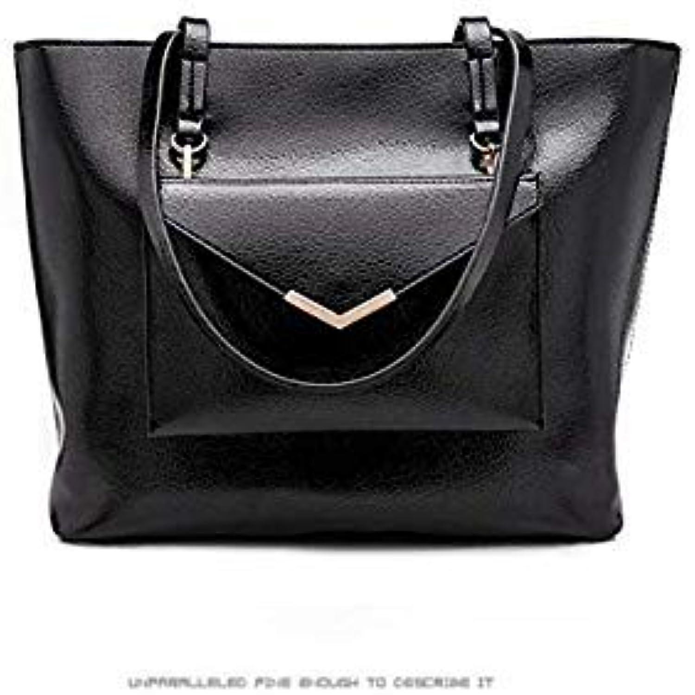 Bloomerang Famous Brand Designer Fashion Women Bags Luxury Bags 2 Set Travel Lady PU Leather Handbags Purse Shoulder Tote Female Messenger color Black