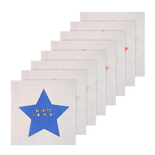 Lot de 20 serviettes en papier Happy Birthday - Meri Meri