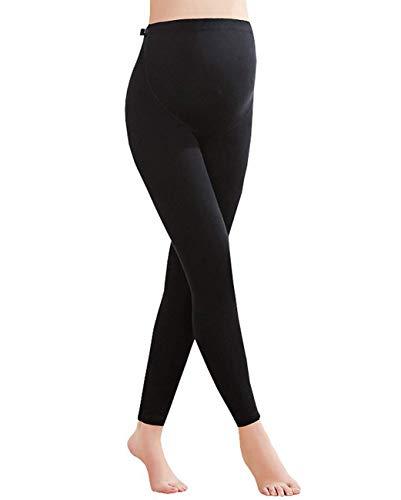 Foucome Maternity Leggings Full Ankle Length Cotton Super Soft Support Leggings Black UK M