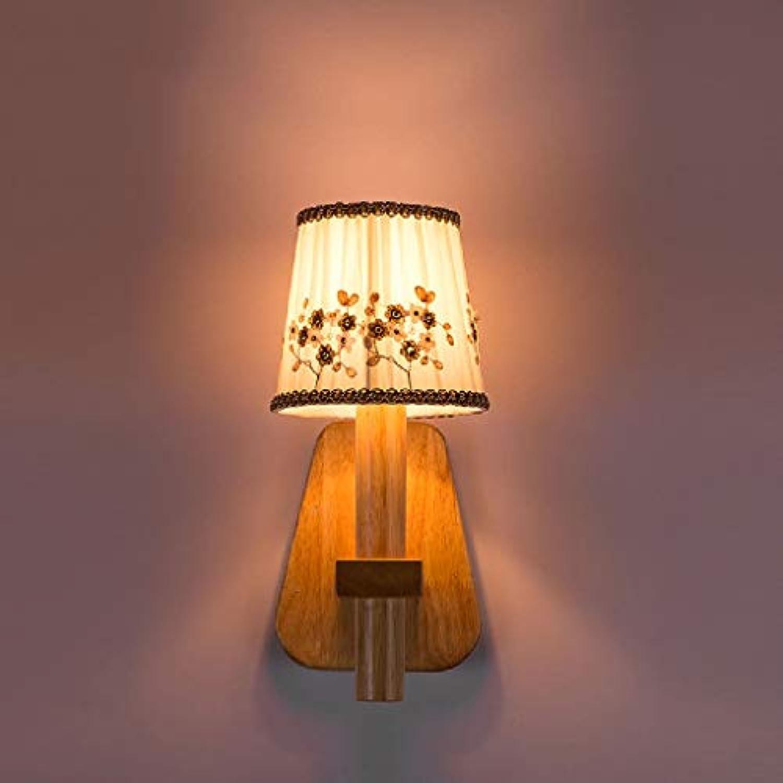 SPA  Moderne warme hlzerne Stoff-Wandlampe japanische neue Lampen einfache Wohnzimmer-Wandlampe personalisierte kreative Restaurant-Lichter Hhe  13.77in E14