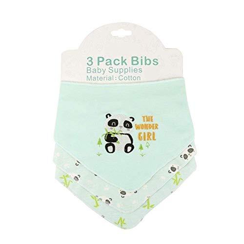 Baby slabbetjes for kwijlen en tandjes krijgen, 3pcs Baby Boy Girl Bandana slabbetjes Soft Cotton zakdoek slabbetjes for Newborn Infant, Verjaardagsfeest Peuter (Kleur: Elephant) (Color : Panda)