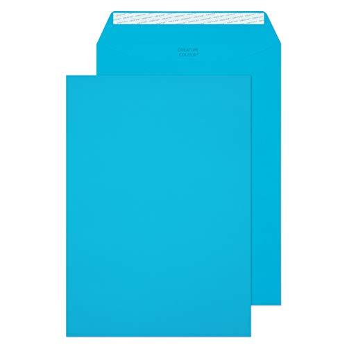 Creative Colour 63410 Farbige Briefumschläge Haftklebung Karibik Blau C4 229 x 324 mm 120g/m² | 10 Stück