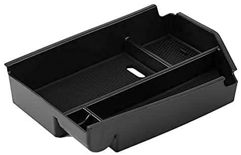 NADAENDR Caja de almacenamiento para reposabrazos de coche para Mercedes Benz W166 2012-2014, caja de almacenamiento de consola central, bandeja organizadora multifuncional.