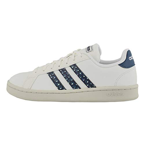 adidas Damen Grand Court Sneaker, Weiá (Cloud White/Cloud White/Legend Ink), 37 EU